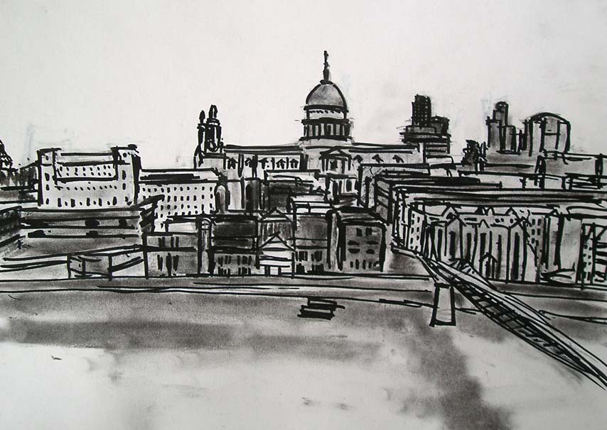 Sketch of St Paul's Cathedral, London